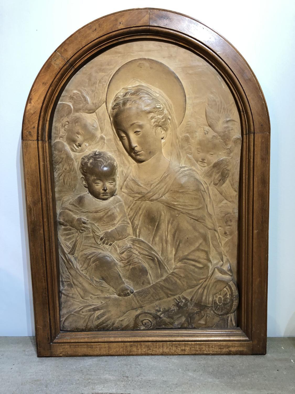 Victorian Terracotta Religious Panel