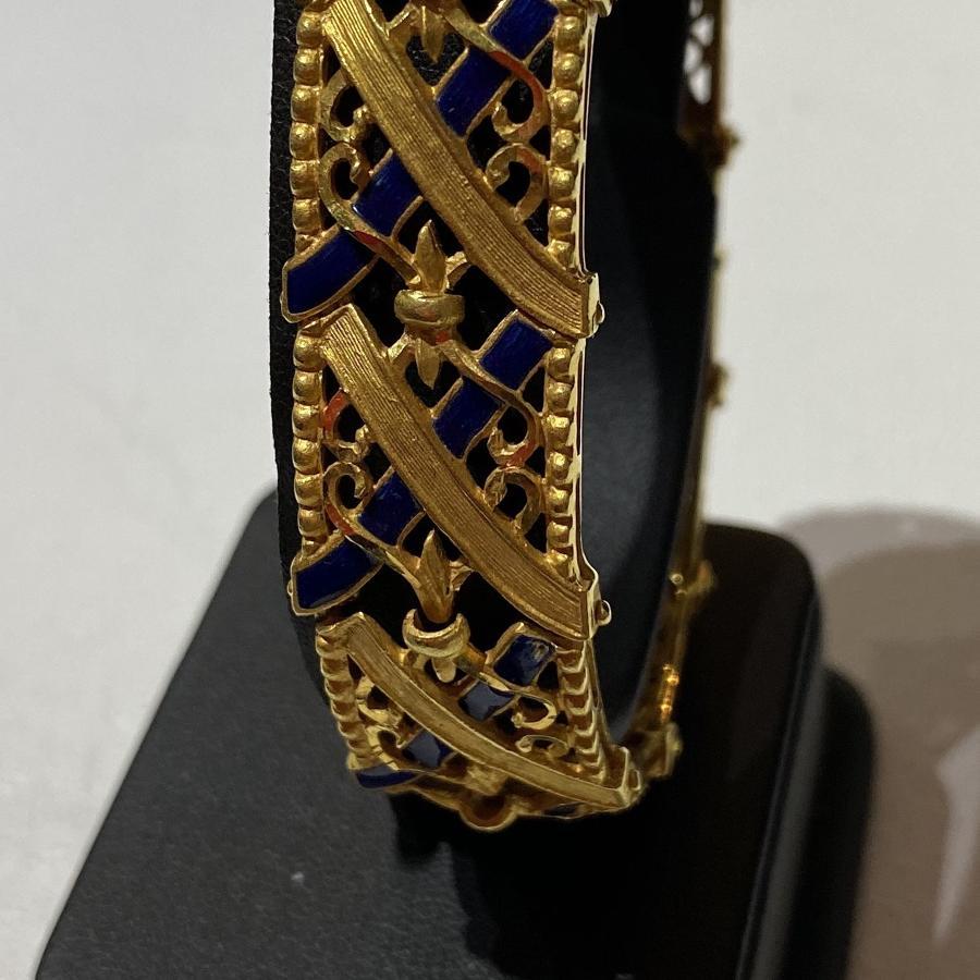 Italian Gold & Enamel Bracelet