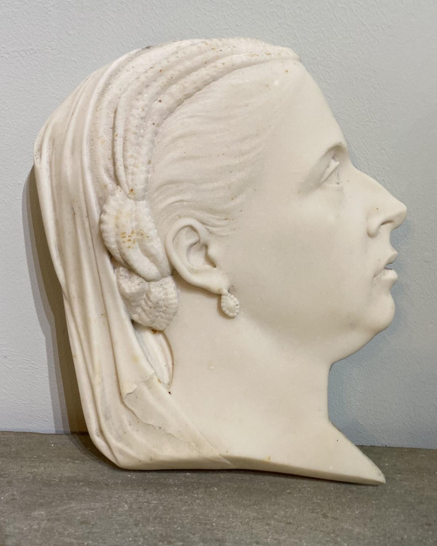 Queen Victoria Marble Portrait