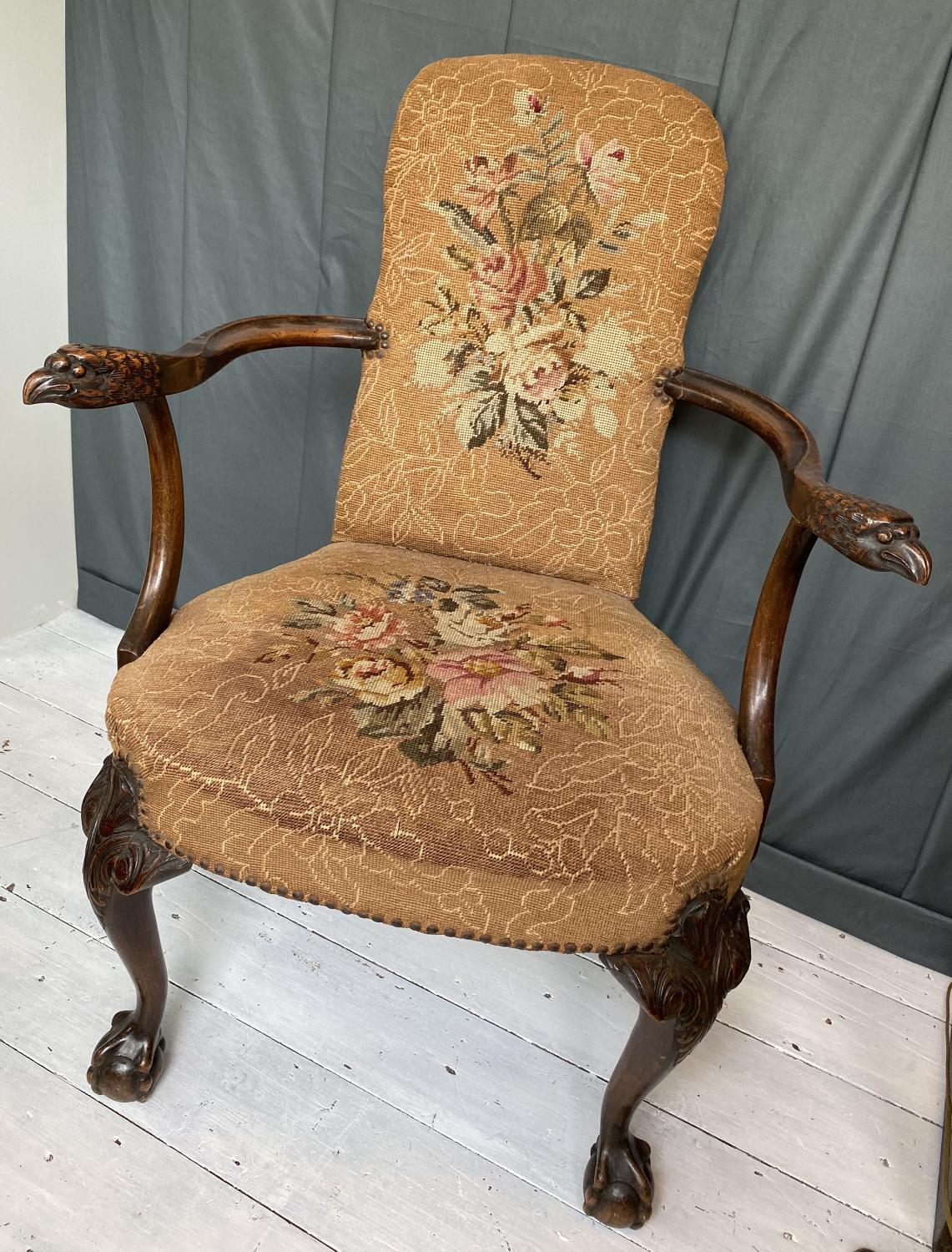 19th Century Carved 'Eagle Chair'