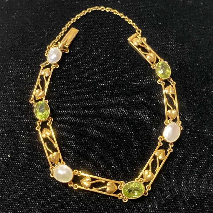 A Peridot bracelet by Murle Bennett