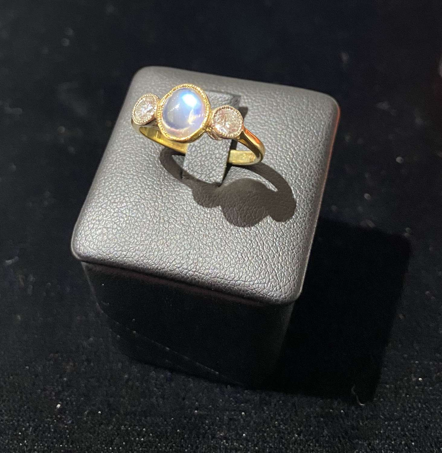 1920's Moonstone & Diamond Ring