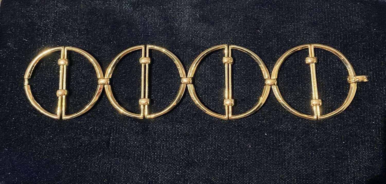 18ct Gold Modernist Bracelet