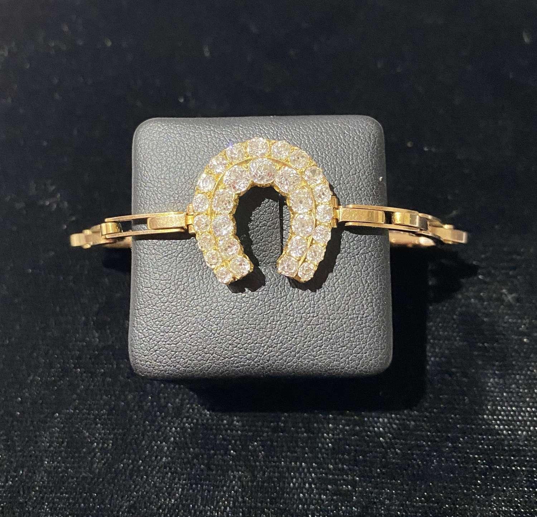 A Stunning Diamond Horseshoe Bracelet