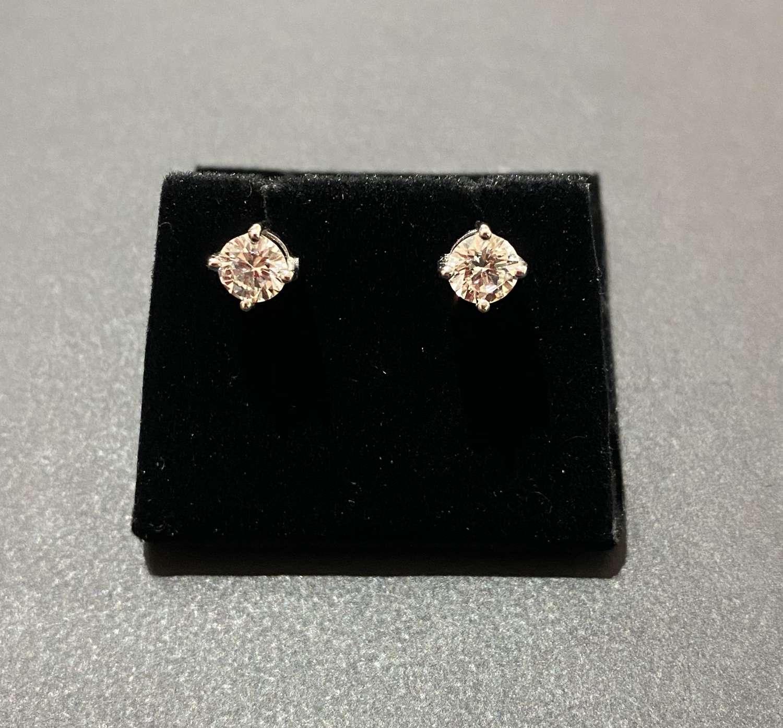 An impressive pair of Diamond studs.