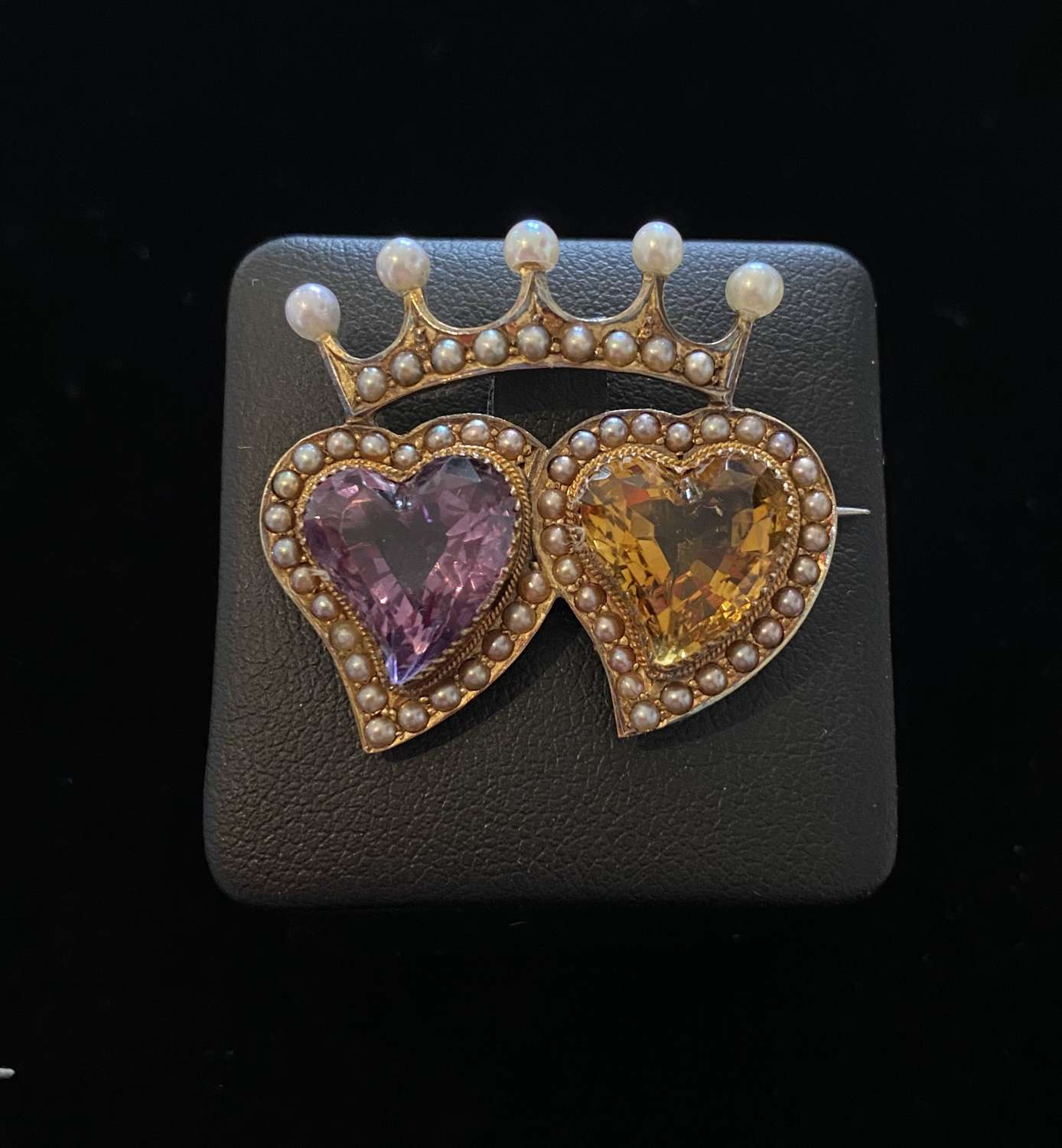 Victorian Double Witch's Heart Brooch