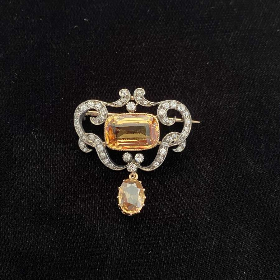 Belle Epoque Topaz Brooch