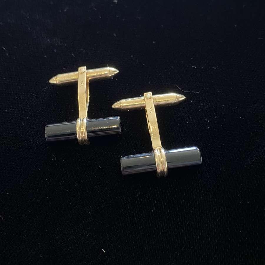 Onyx & Gold Cufflinks