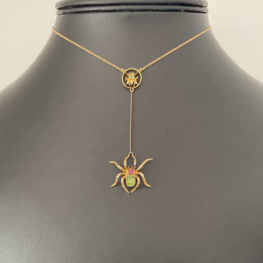 Edwardian Spider Necklace