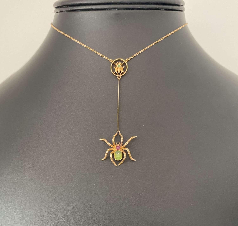 Edwardian Spider Necklace