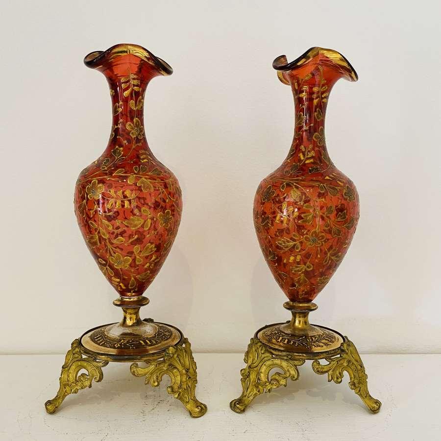 Venetian Posy Vases.