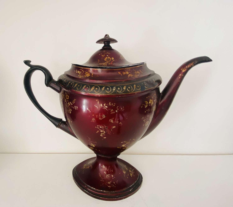 Georgian Toleware Teapot