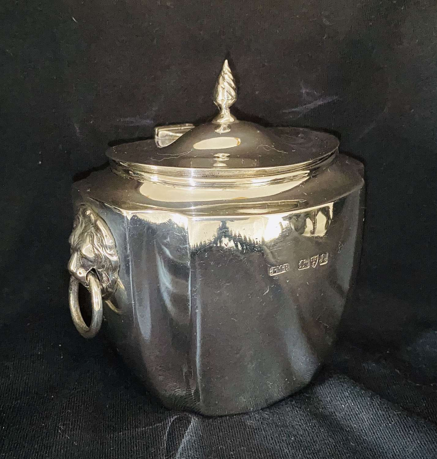 Silver Tea Caddy By J.W.Banks