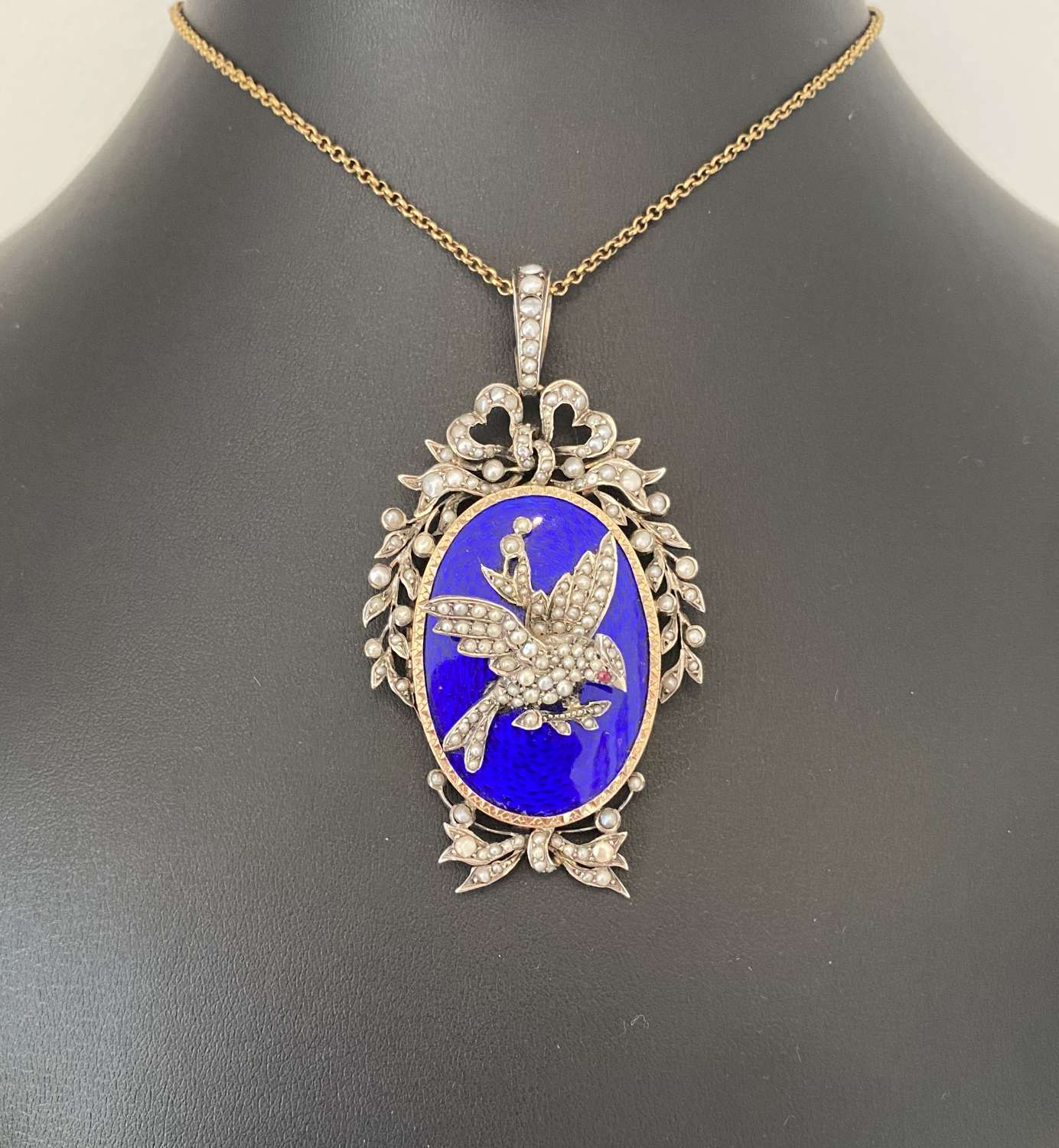 French Enamelled Locket