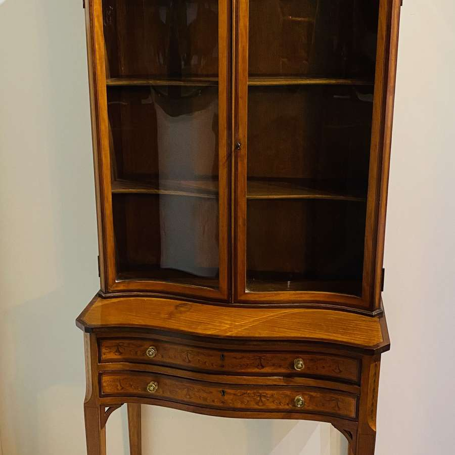Satinwood Cabinet On Stand