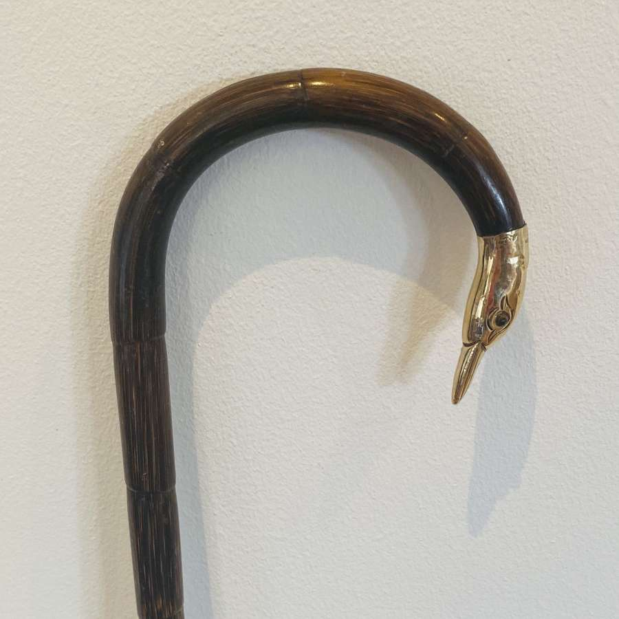 Gold Swan Head Cane