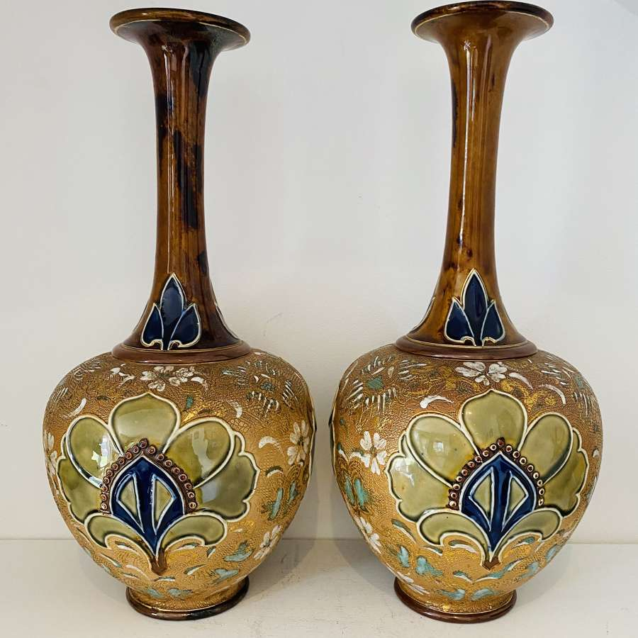 Royal Doulton Slaters Patent Vases