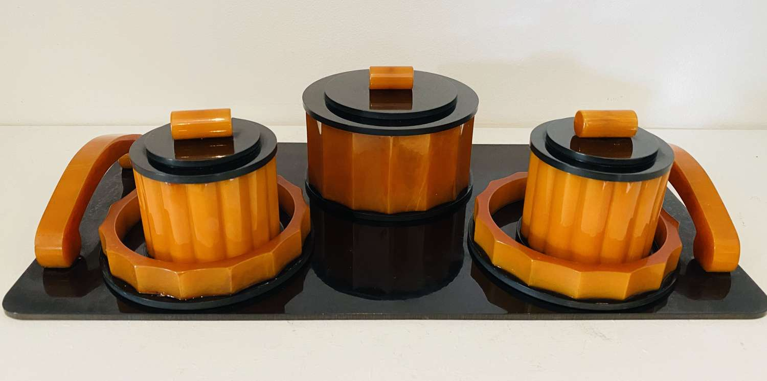 Bakelite Dressing Table Set