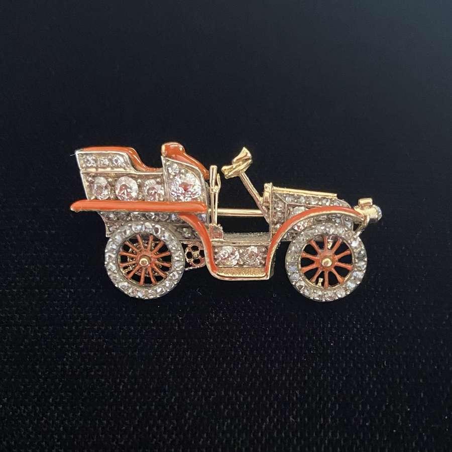A Rare Motor Car Brooch
