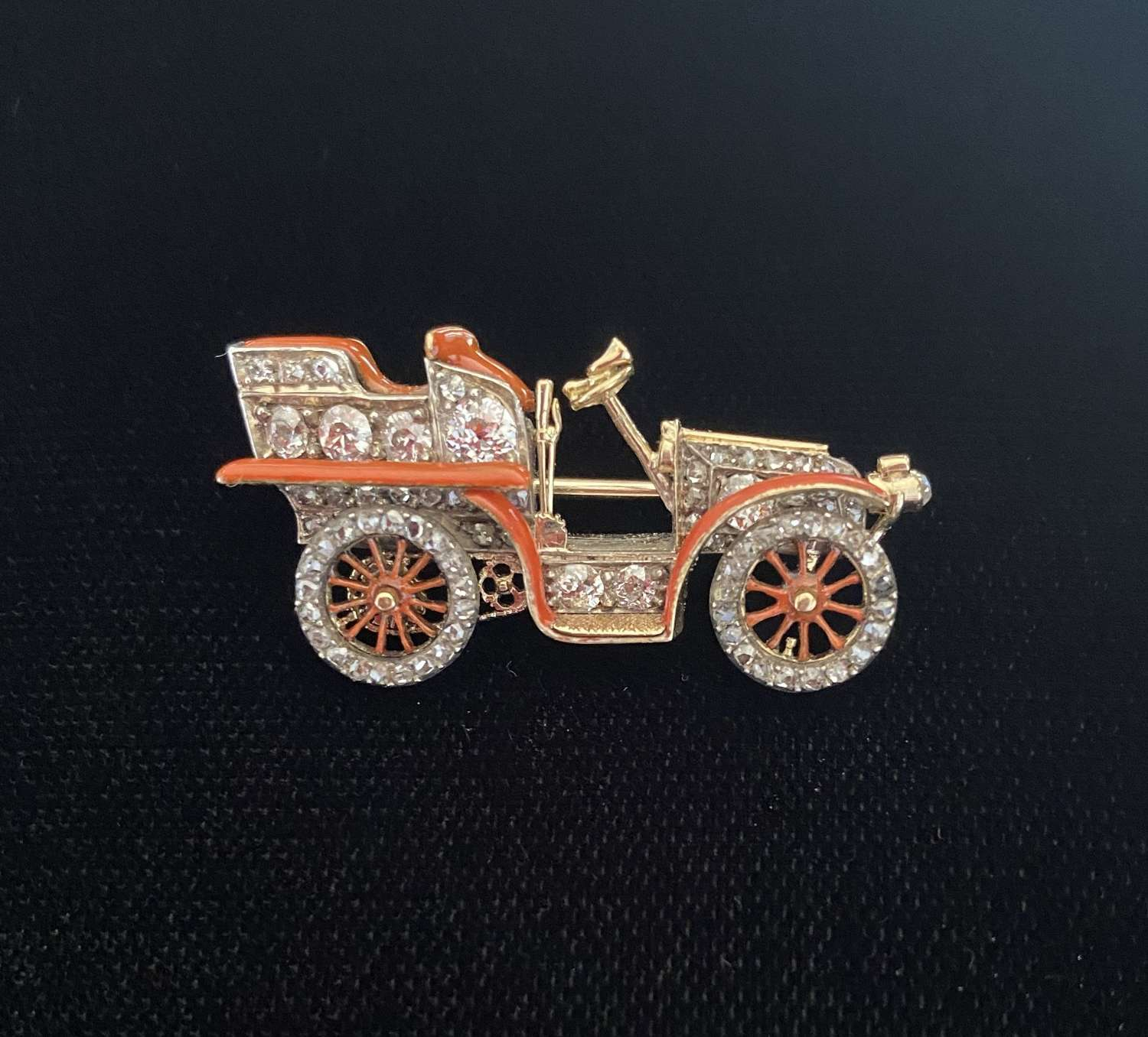 A Rare Motor Car Brooch