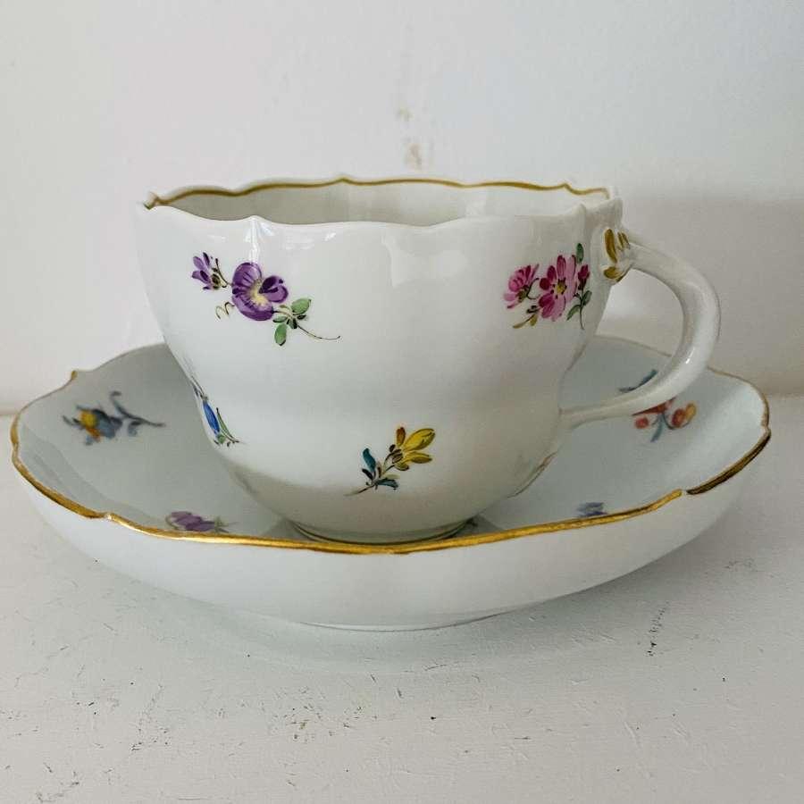 Meissen Tea Cup & Saucer