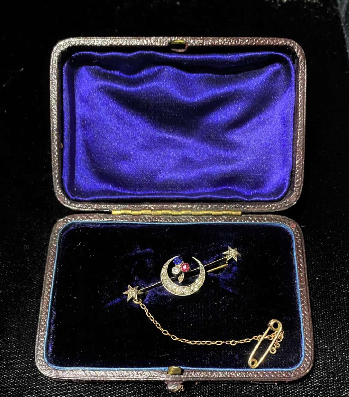 Victorian Crescent Brooch