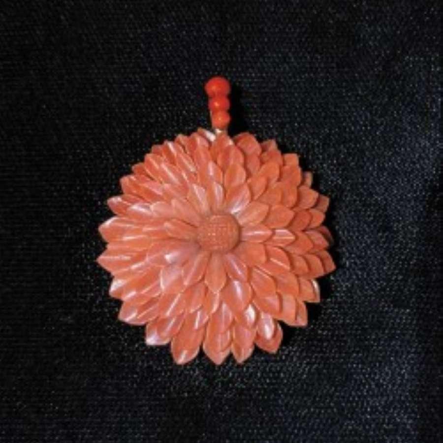 Victorian Coral Pendant