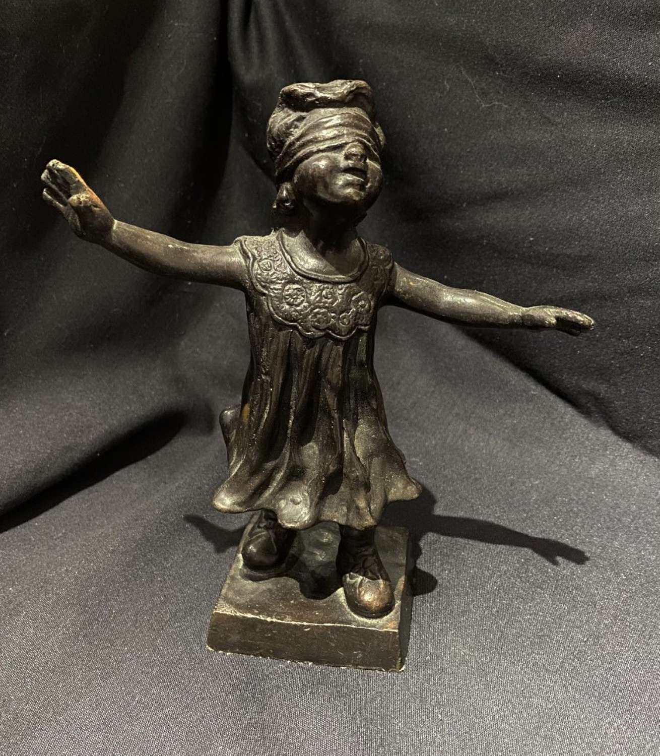 Bronze Of A Blindfolded Girl